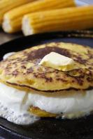 Cachapa, venezuelan corn tortilla photo