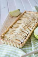 Apple Cinnamon tart selective focus