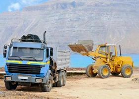 Front end loader and dumper; Graciosa, Canaries photo