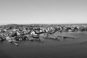 pequeña ciudad de smogen, bohuslan, suecia.
