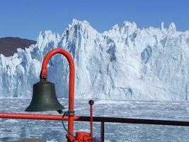 afkalvende gletsjer