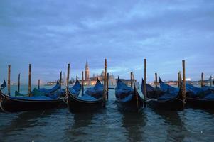 Gondola in dawn