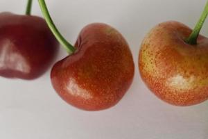 Ripe cherries of Puglia indoors.
