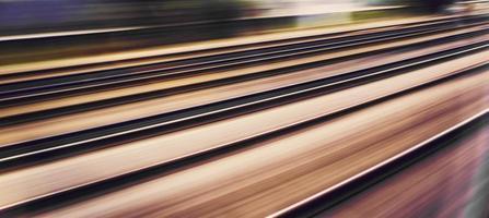 rieles de tren foto