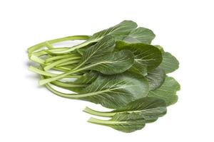 Fresh green Komatsuna leaves