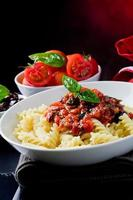 Pasta with Tomato sauce photo