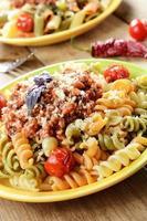Pasta fusilli with bolognese photo
