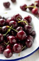 sweet cherry on a plate photo