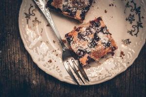 Cherry sponge cake photo