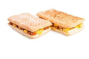Panini with meat and cheese