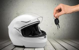 casco, motocicleta, casco protector