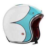 casco de moto azul