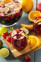 Homemade Delicious Red Sangria photo
