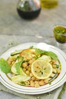 chickpeas and zuccini salad photo