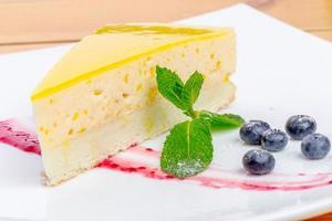 tarta de queso con menta foto