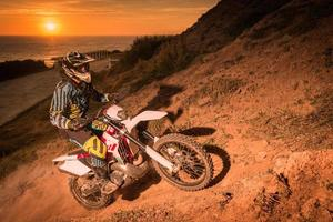 Enduro bike rider photo