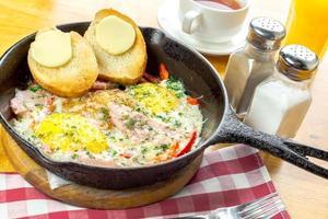 Country egg omelette