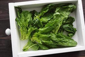 Spinach in box photo