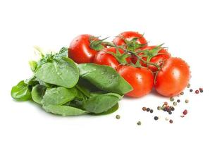 Spinach and tomatoes.