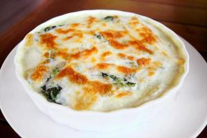 Baked Spinach with Cheese.