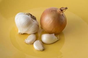 onion and garlic photo