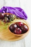 fresh plums photo