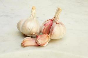 Garlic on marble