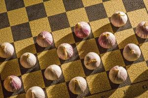 Garlic on a chessboard