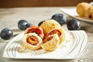 Sweet plum dumplings photo