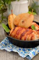 Chicken with grilled bacon photo