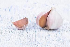 The garlic segments which aren't cleared on