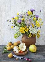 fruits and wildflowers