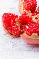 The pomegranate broken on an