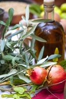 olive oil and pomegranates
