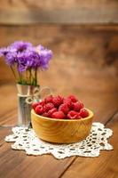 Fresh raspberries photo