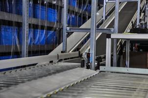 Roller conveyor in an automated warehouse