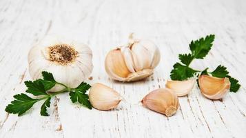 garlic and parsley photo
