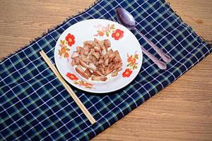 Pork fried rice simple breakfast photo
