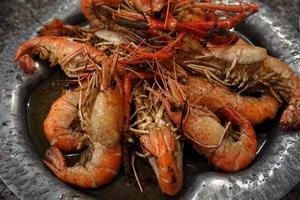 River prawn baked in garlic butter