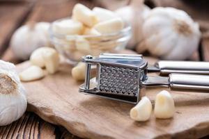 Garlic Press (with fresh Garlic) photo