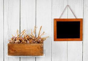 Garlic in a box photo