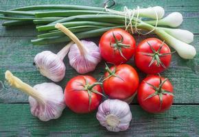 fresh vegetables from the garden photo