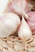 Fresh Garlic Isolated On White Background photo