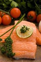 Salmon fillet photo