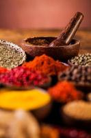 Colorful Asian theme with spices photo