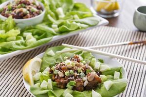 Hoisin lobster lettuce wraps photo