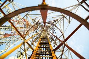 Telecommunication mast TV antennas photo