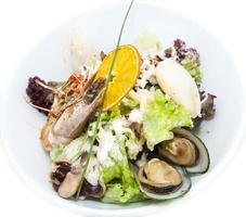 salad with seafood photo