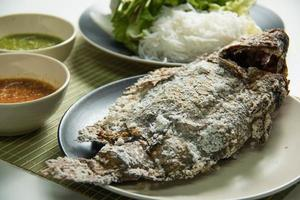 Fish grilled in Asian style