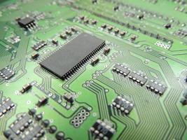 circuit board in macro photo